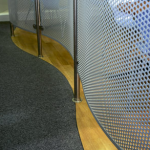 Balustrade panels in aluminium