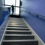 Stair tread at Uxbridge College