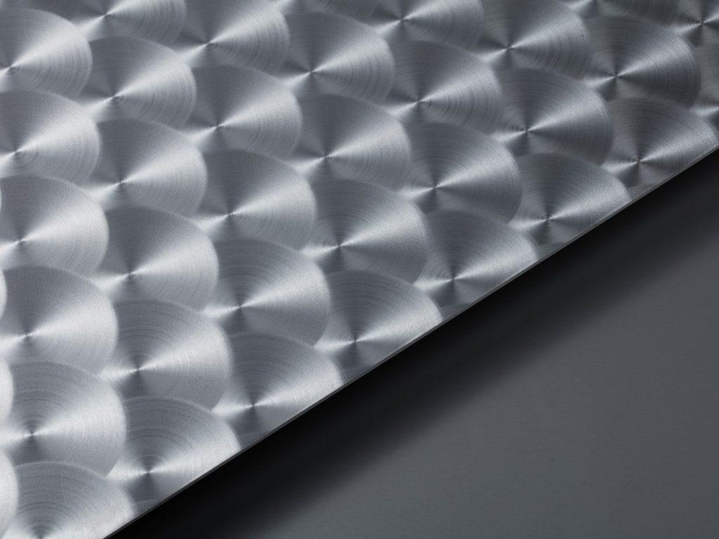 circular satin brushed pattern
