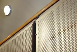 Anodised Balustrade Panels: Christ Church School