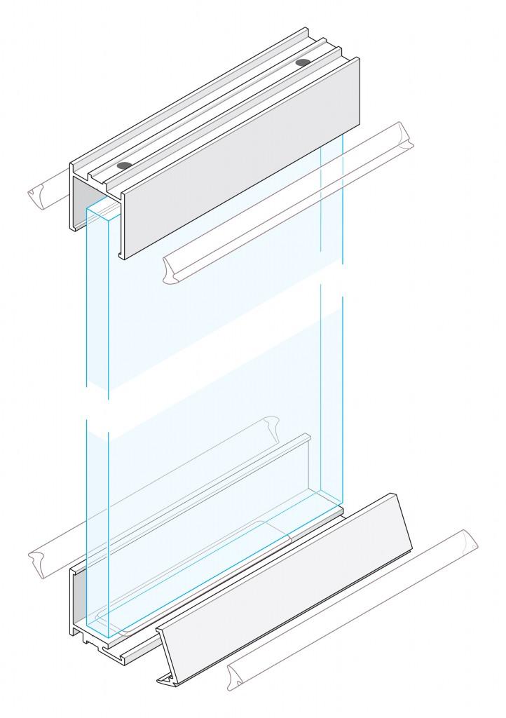 Aluminium Shuffle Glazing
