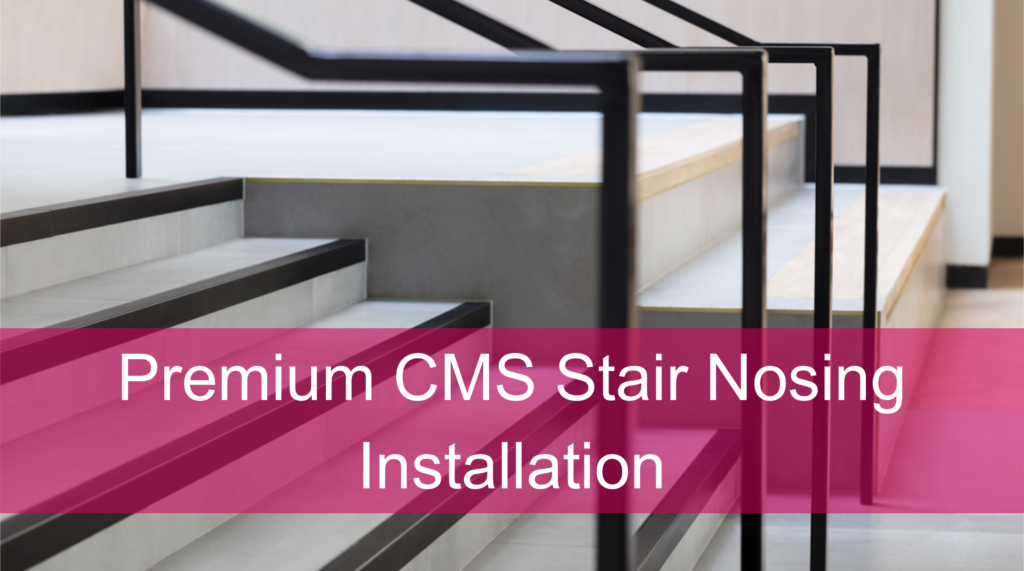 Stair Nosing for Tiled, Marble or Stone Flooring - Black Anodised Finish
