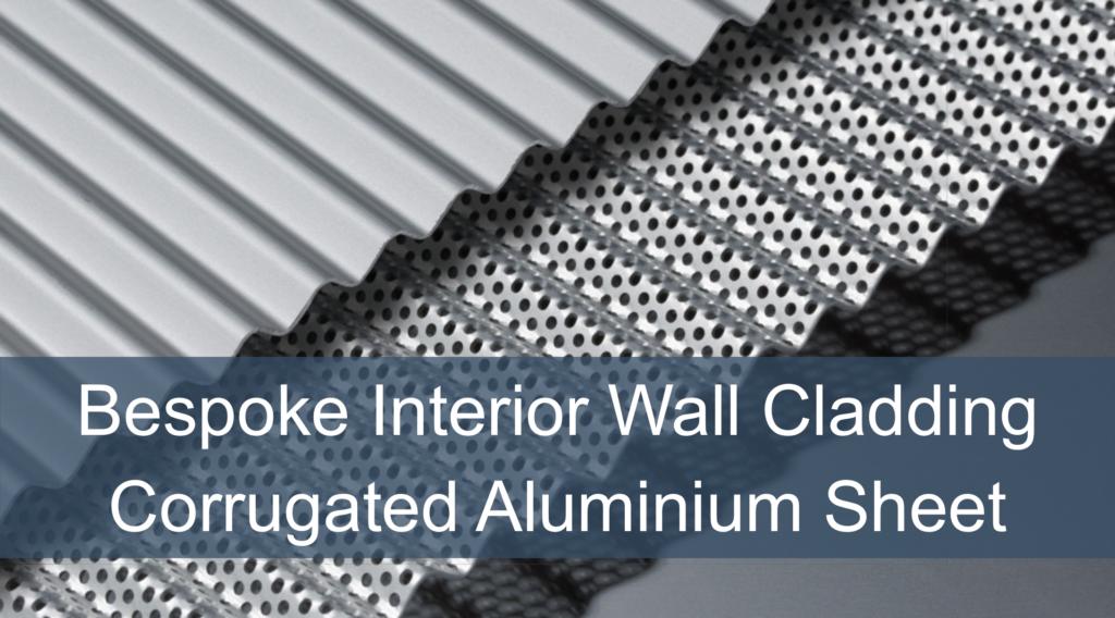 Bespoke interior wall cladding in corrugated aluminium sheet