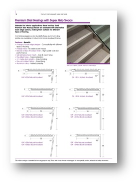 Gooding Aluminium Stair Nosings