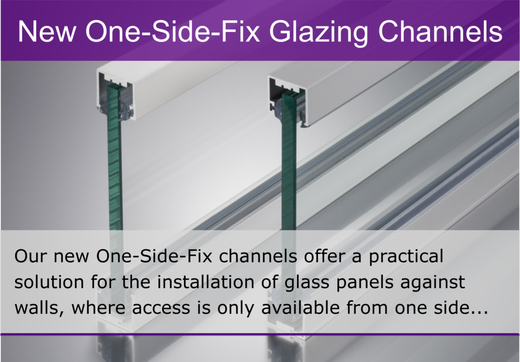 Aluminium Glazing Channel - One Side Fix