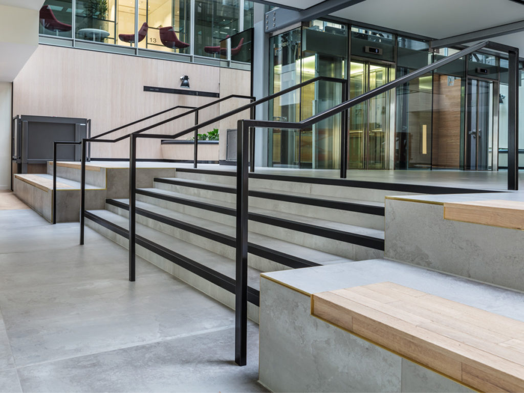 Stair Nosing for Tiled/Marble/Stone Flooring - Black Anodised (View 1)