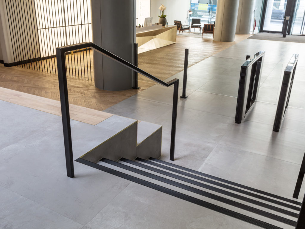 Stair Nosing for Tiled/Marble/Stone Flooring - Black Anodised (View 4)