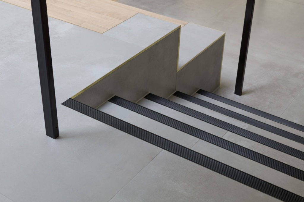 Stair Nosing for Tiled/Marble/Stone Flooring - Black Anodised (View 2)