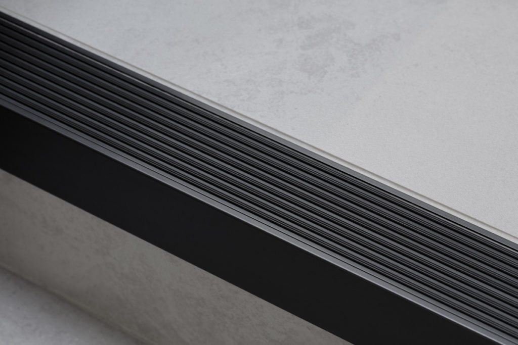 Stair Nosing for Tiled/Marble/Stone Flooring - Black Anodised (View 3)