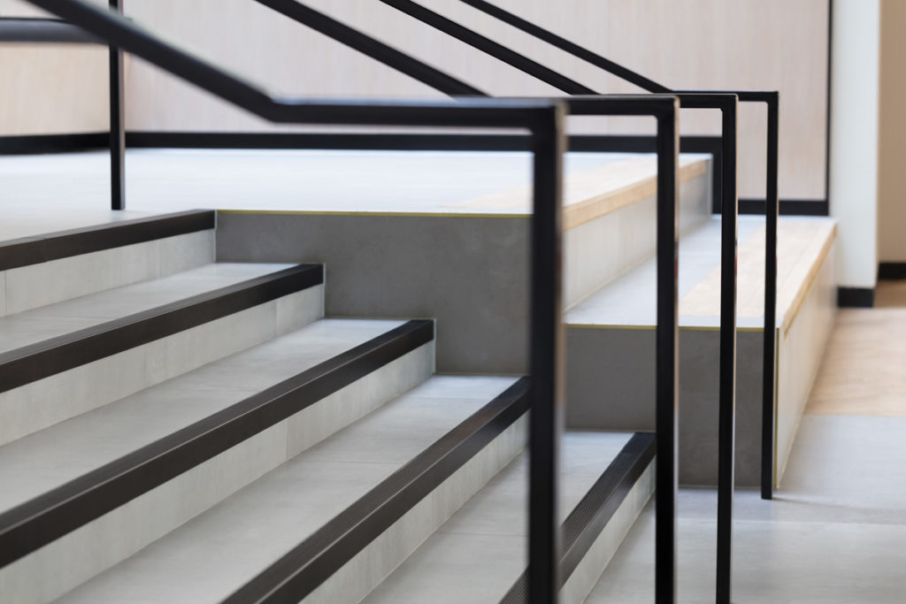 Stair Nosing for Tiled/Marble/Stone Flooring - Black Anodised (View 5)