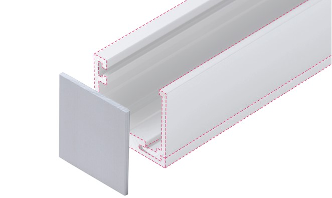 Aluminium Glazing Channel - One-Side-Fix