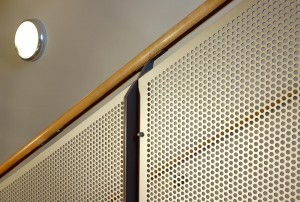 Anodised Balustrade Panels: Christ Church School