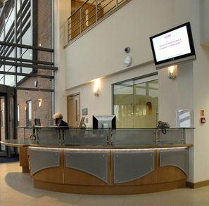 reception desk fascia